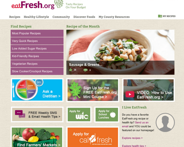 New User-friendly Homepage Launched on EatFresh.org