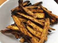 Sweet potato fries from EatFresh.org recipe cooked by Family Health Center Medical Director, Lydia Leung