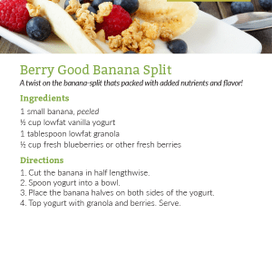 Berry Good Banana Split