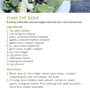 Fresh Fall Salad