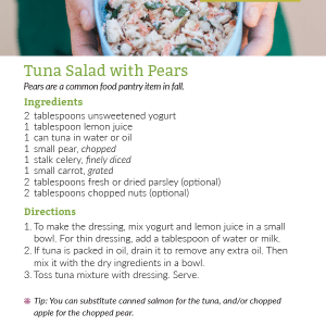 Tuna Salad with Pears