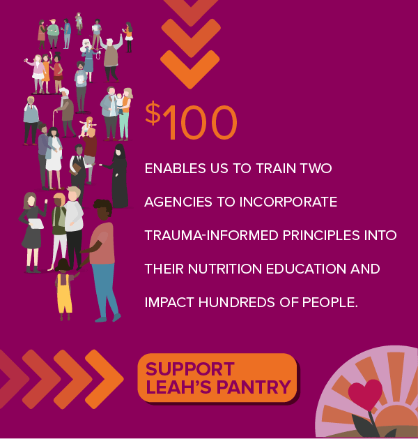 Support Leah's Pantry with a $100 donation