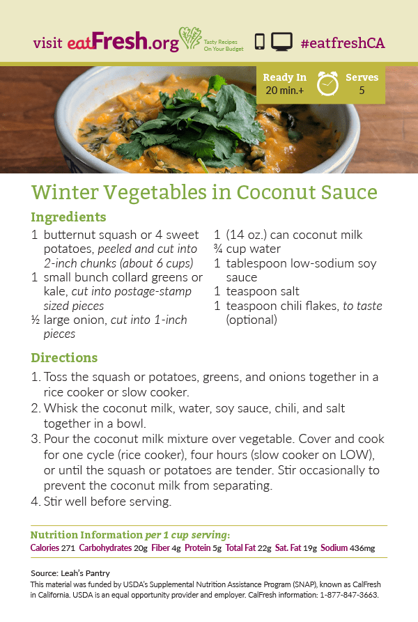Winter Vegetables in Coconut Sauce