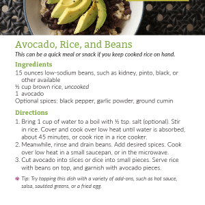 Avocado, Rice, and Beans