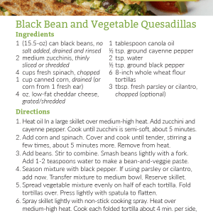 Black Bean Vegetable Quesadillas