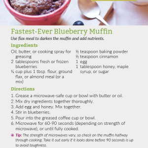 Fastest-Ever Blueberry Muffin