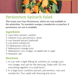 Persimmon Spinach Salad