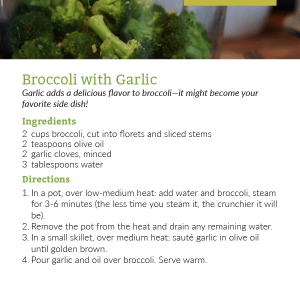 Broccoli with Garlic Recipe Card