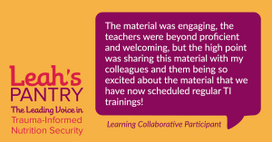 Quote from Learning Collaborative Participant