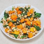 Butternut Squash and Spinach Pasta - Butternut Squash and Spinach Pasta (V + GF)