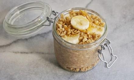 Peanut Butter Banana Crunch Overnight Oat Parfait Leahs Plate2 - Recipes