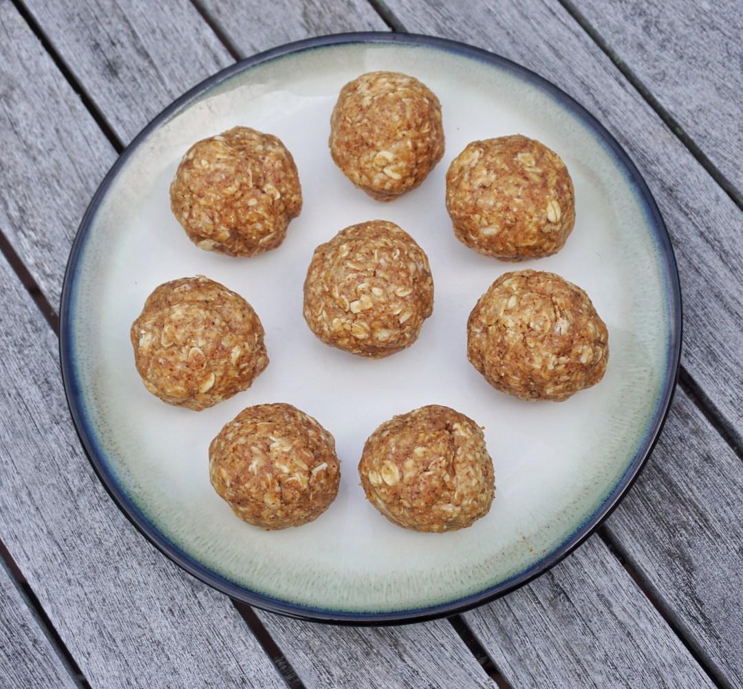 No Bake Almond Butter Oat Energy Balls Leahs Plate4 - No Bake Almond Butter Oat Energy Balls