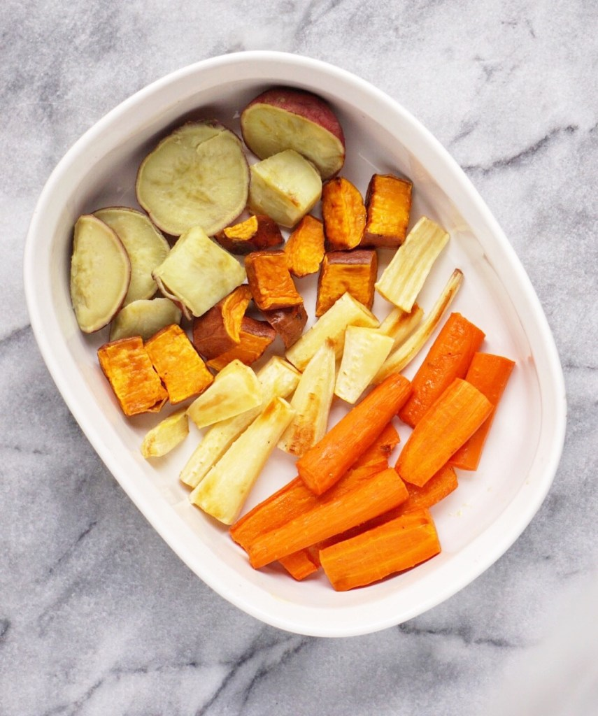 Roasted Root Veggies 855x1024 - Roasted Root Veggies - the Perfect Thanksgiving Side