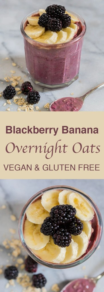 blackberry banana overnight oats 365x1024 - Blackberry Banana Overnight Oats