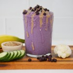 Creamy Blueberry Flax Smoothie