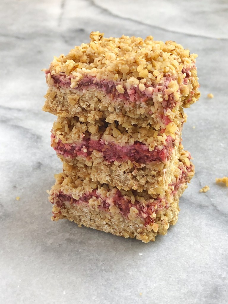 Raspberry Oat Crumble Bars3 768x1024 - Raspberry Oat Crumble Bars (Gluten-Free & Dairy-Free)