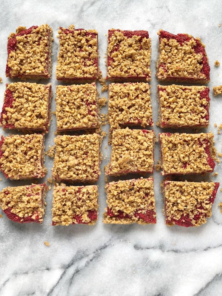 Raspberry Oat Crumble Bars9 768x1024 - Raspberry Oat Crumble Bars (Gluten-Free & Dairy-Free)