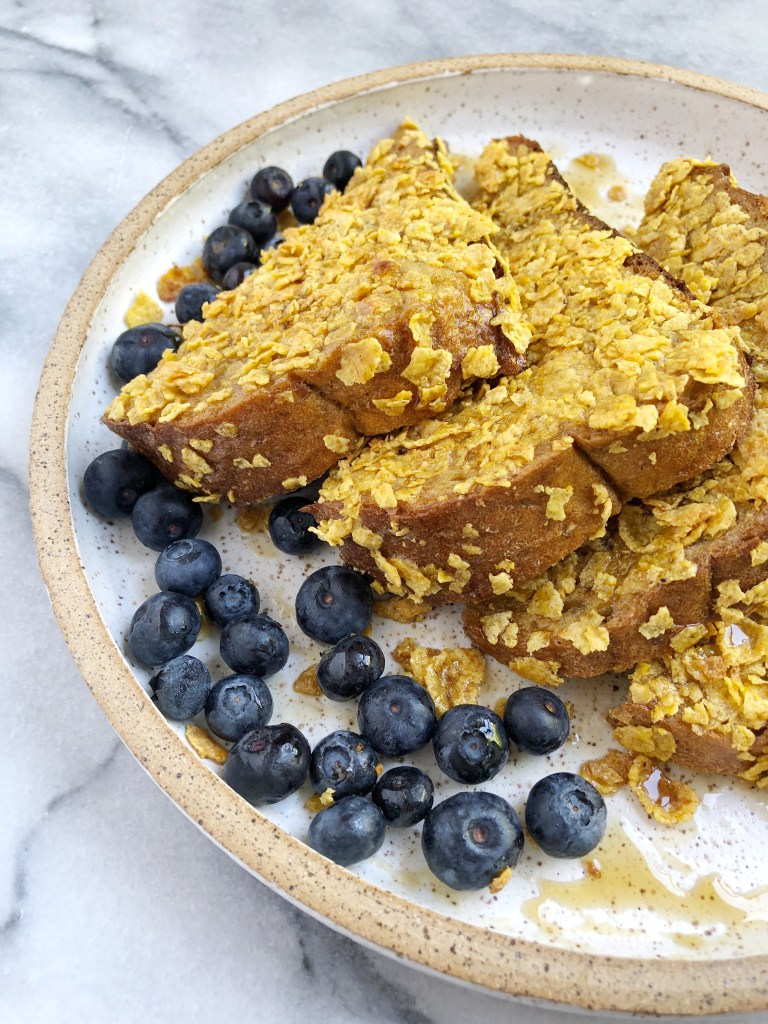 Healthy Cornflake Crusted French Toast 5 768x1024 - Healthy Cornflake-Crusted French Toast