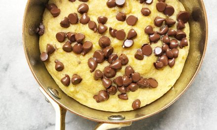 Chocolate Chip Banana Bread Skillet Cake scaled - Recipes