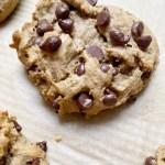 vegan gf choc chip cookie2 scaled - Vegan + Gluten-Free Chocolate Chip Cookies