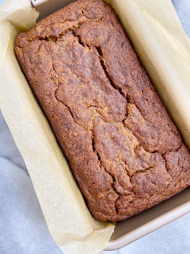gold3 768x1024 - Golden Mylk Paleo Banana Bread