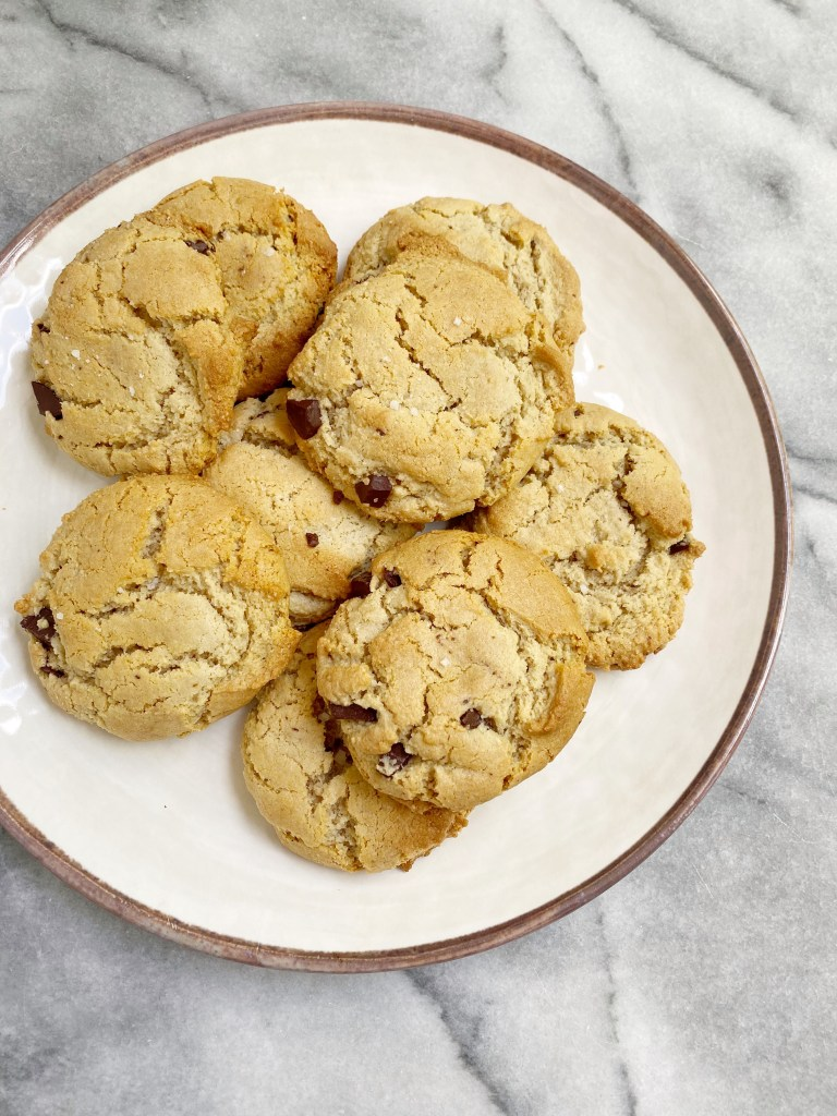 Maple Sea Salt Chocolate Chip Cookies 768x1024 - The Most AMAZING Vegan Maple Sea Salt Chocolate Chip Cookies!!