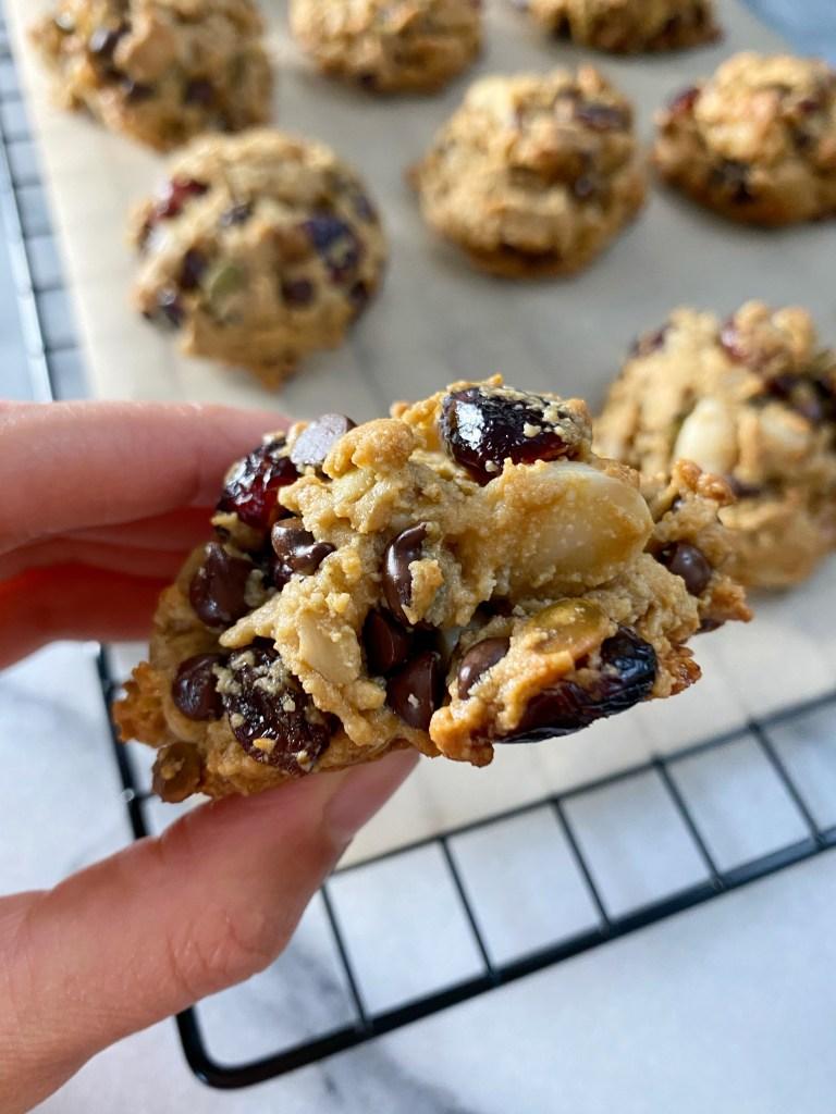 trail mix cookies3 768x1024 - Gluten-Free Trail Mix Breakfast Cookies!!