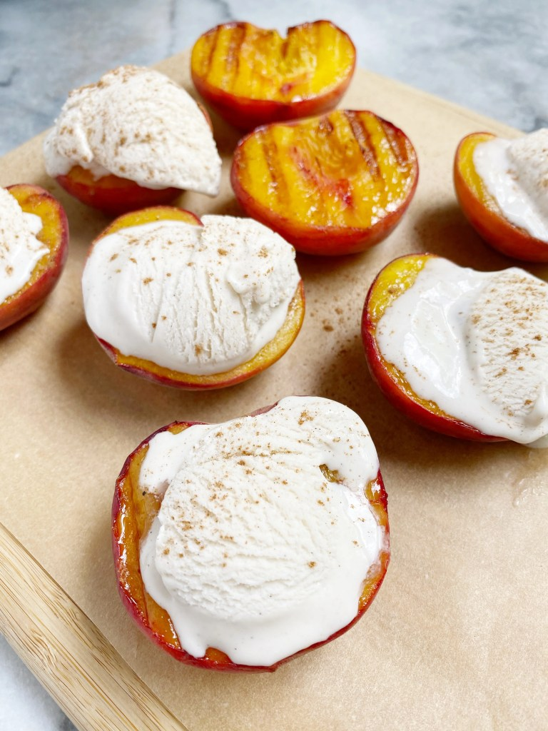 Post 2 Image 1 768x1024 - A quintessential summer dessert: grilled peaches with vanilla bean ice cream