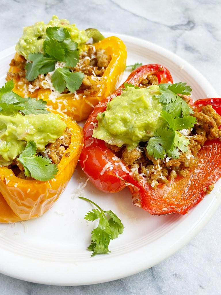 taco stuffed peppers3 768x1024 - Healthy Taco Meat Stuffed Peppers (gluten-free & grain-free)