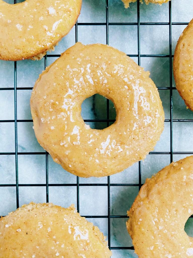 apple cider donut 768x1024 - Paleo Apple Cider Donuts with a Salted Caramel Glaze