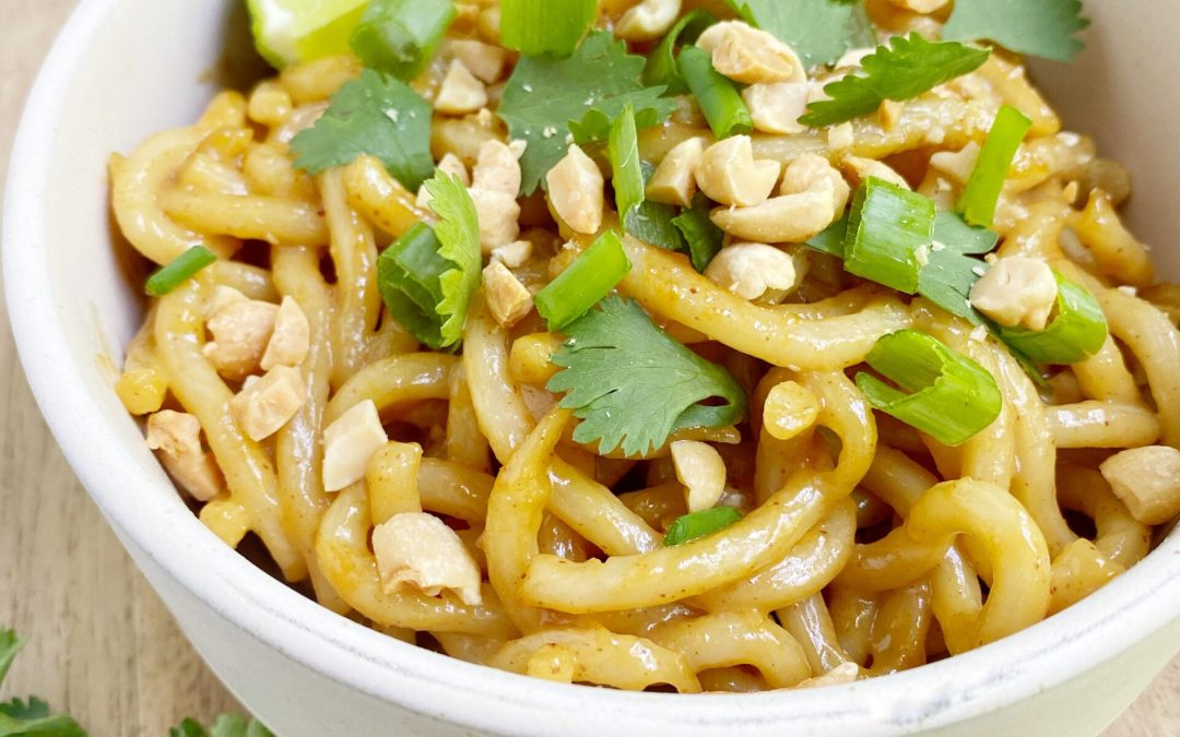 Spicy Peanut Butter Stir-Fry Noodles (Vegan)