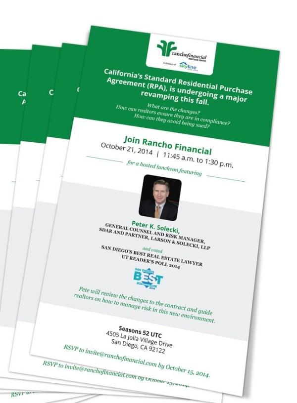 Peter Solecki Rancho Financial invitation