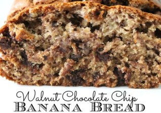 Walnut Chocolate Chip Banana Bread