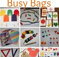 {Mommy School} Toddler Busy Bags