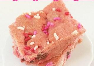 Pink Velvet Cake Mix Bars