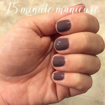 15 minute manicure