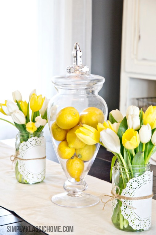 easy spring centerpiece idea