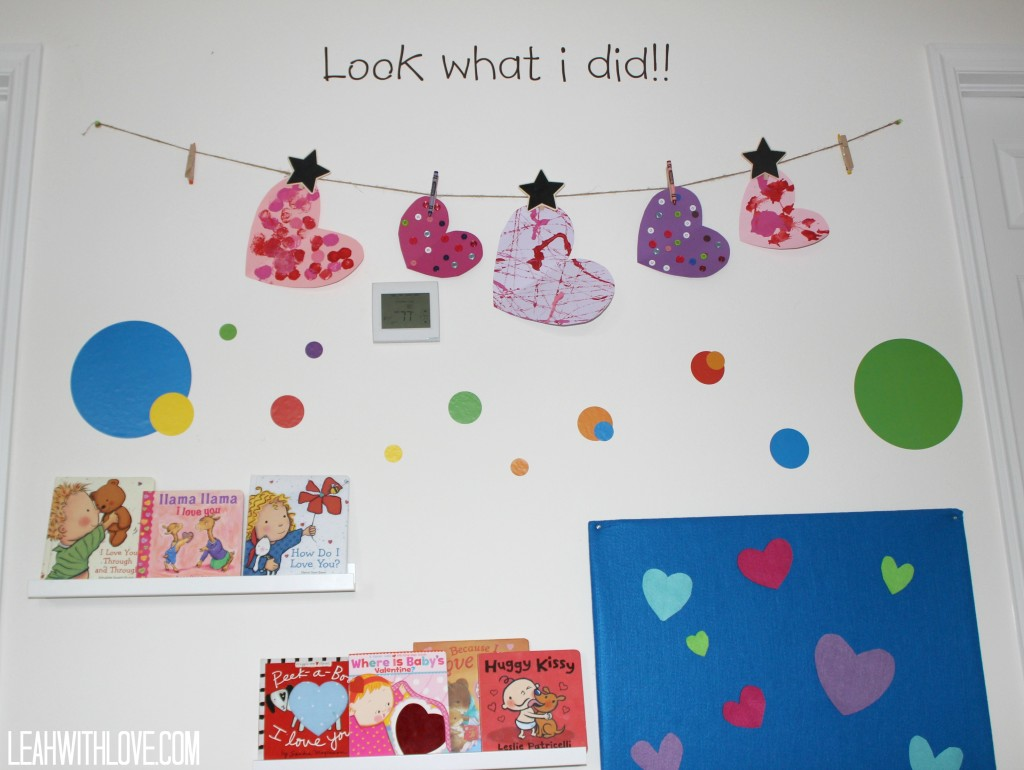 playroom art wall display