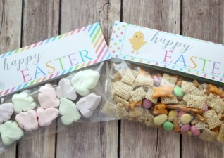 Happy Easter Treat Bag Toppers