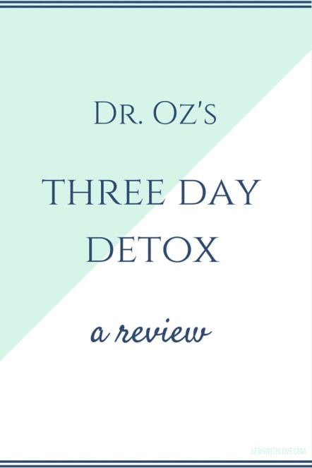 three day detox