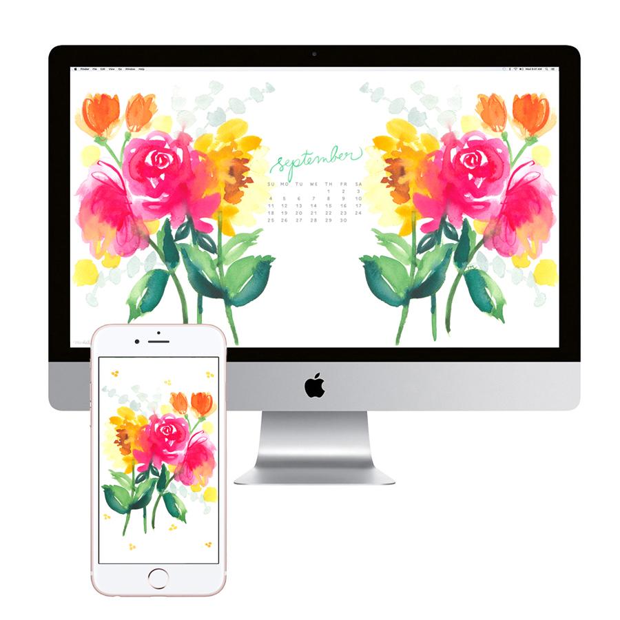 September-Calendar-flowers-desktop-wallpaper-download