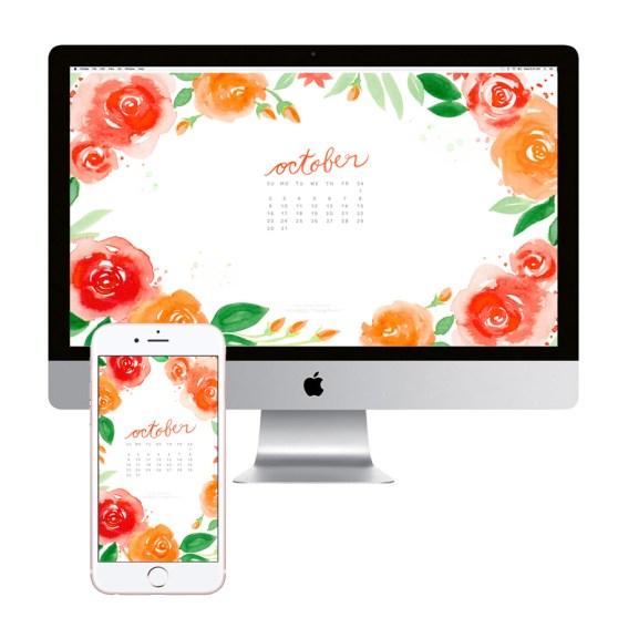 october-calendar-flowers-desktop-wallpaper-download
