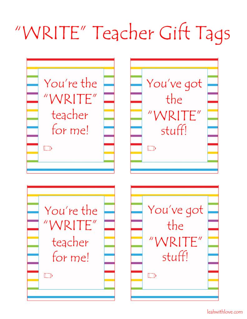 Write Teacher Gift