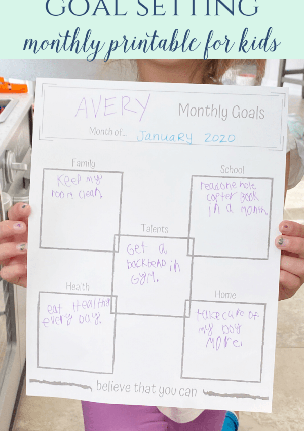 Goal Setting Monthly Printable