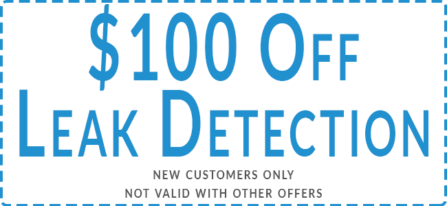 $100 OFF LEAK DETECTION - NEW CUSTOMERS