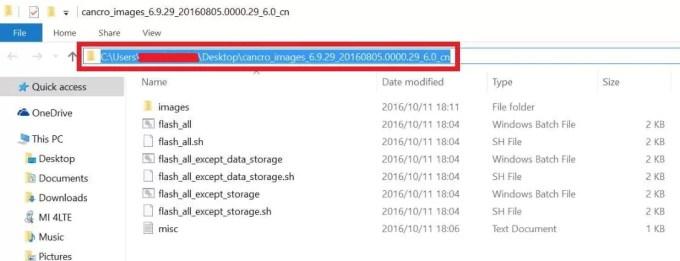 Copy Xiaomi firmware folder path