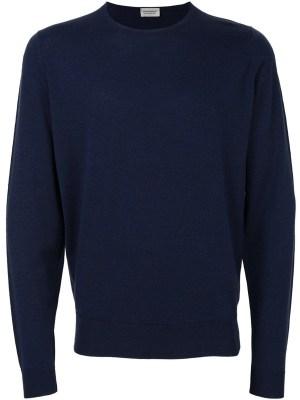 Blue Sweater in Merino Wool