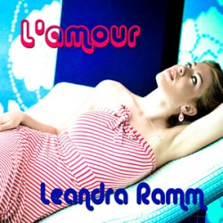 Leandra Ramm picture, wearing red and white stripes dress for L'amour Album Cover