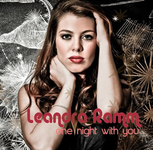 Leandra Ramm picture, wearing black dress for One Night with You Album Cover