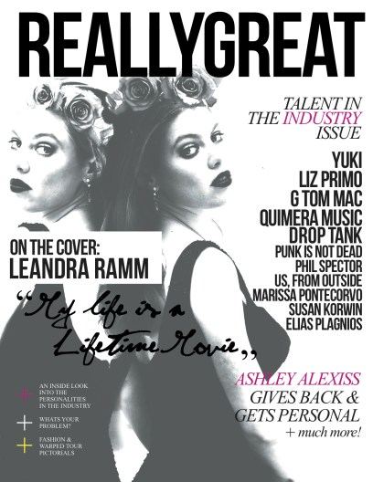 Leandra Ramm black & white picture, on Really Great Magazine Cover